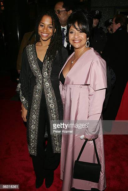 Actress Debbie Allen with her daughter Morgan attend the Broadway opening of The Color Purple at the Broadway Theatre December 1 2005 in New York City