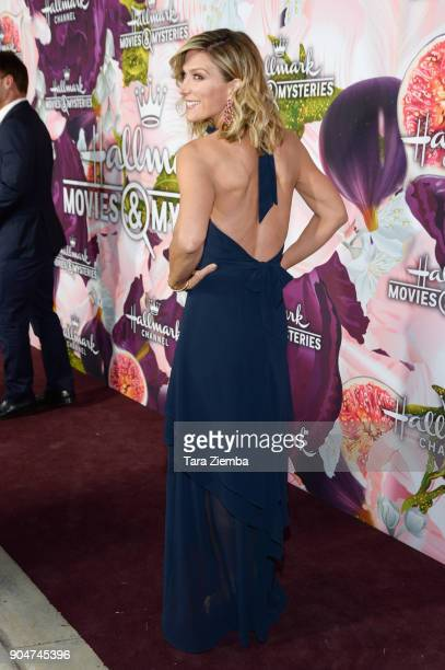 Actress Debbie Matenopoulos attends Hallmark Channel And Hallmark Movies and Mysteries Winter 2018 TCA Press Tour at Tournament House on January 13...