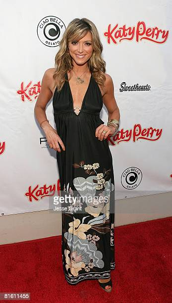 Actress Debbie Matenopoulos attends the Katy Perry record release party for One of the Boys at Capitol Records on June 17 2008 in Los Angeles...