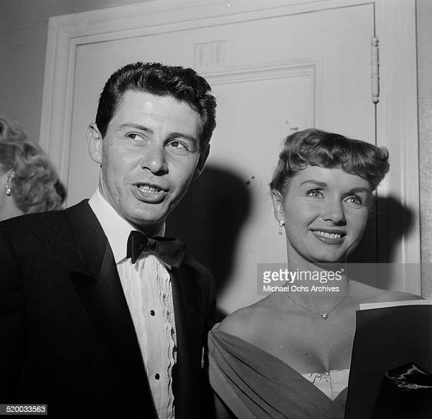 Actress Debbie Reynolds and Eddie Fisher attend the Academy Awards in Los Angeles,CA.