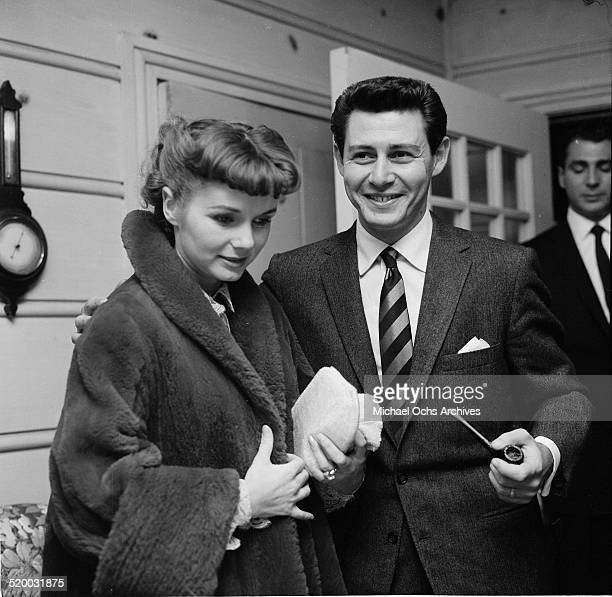 Actress Debbie Reynolds and Eddie Fisher host the Thalians party in Los AngelesCA