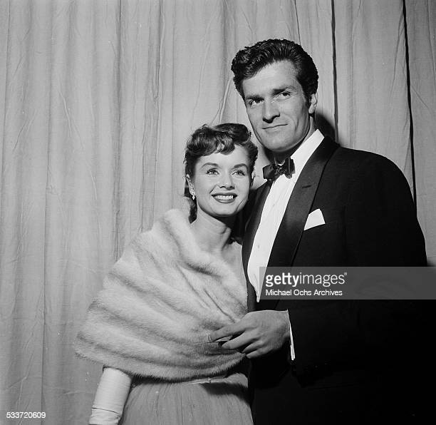 Actress Debbie Reynolds and escort attends an event in Los AngelesCA