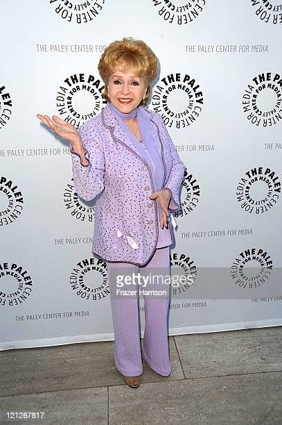 Actress Debbie Reynolds arrives at The Paley Center For Media's Reception For Debbie Reynolds The Exhibit on August 16 2011 in Beverly Hills...