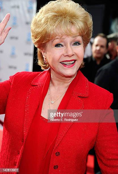 Actress Debbie Reynolds arrives at the TCM Classic Film Festival opening night premiere of the 40th anniversary restoration of Cabaret at Grauman's...