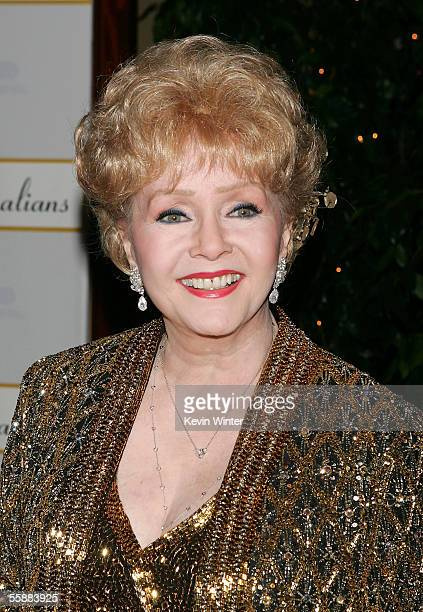 Actress Debbie Reynolds arrives at the Thalians 50th Anniversary Gala at the Hyatt Regency Century Plaza Hotel on October 8 2005 in Los Angeles...