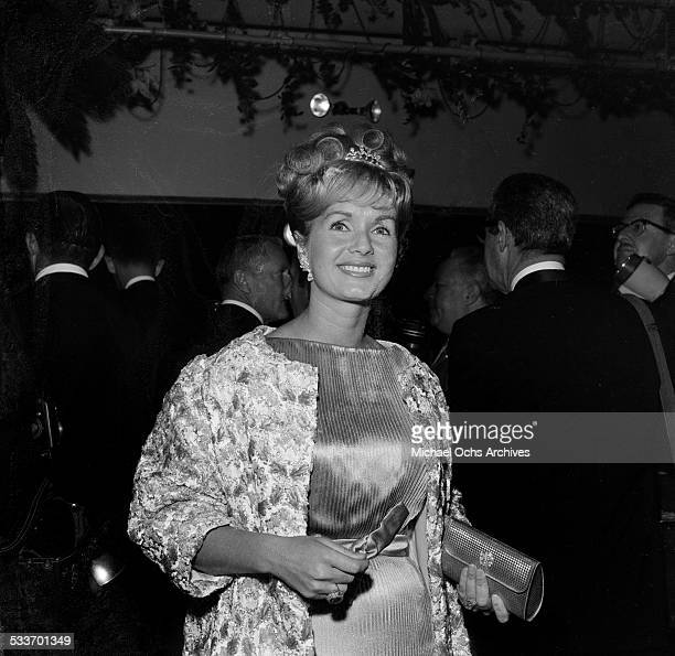 Actress Debbie Reynolds attends an event in Los AngelesCA