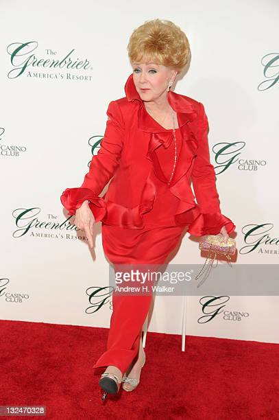 Actress Debbie Reynolds attends The Greenbrier for the gala opening of the Casino Club on July 2 2010 in White Sulphur Springs West Virginia