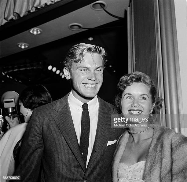 Actress Debbie Reynolds with actor Tad Hunter attend the premiere of 'Little Boy Lost' in Los AngelesCA