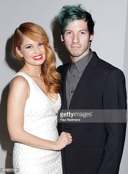 Actress Debby Ryan and musician Josh Dun arriving at the 2nd Annual Norma Jean Gala 2014 at The Paley Center for Media on March 18 2014 in Beverly...