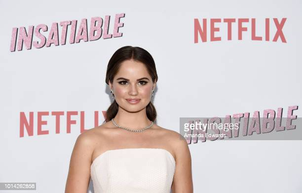 Actress Debby Ryan arrives at Netflix's 'Insatiable' Season 1 Premiere at ArcLight Hollywood on August 9 2018 in Hollywood California