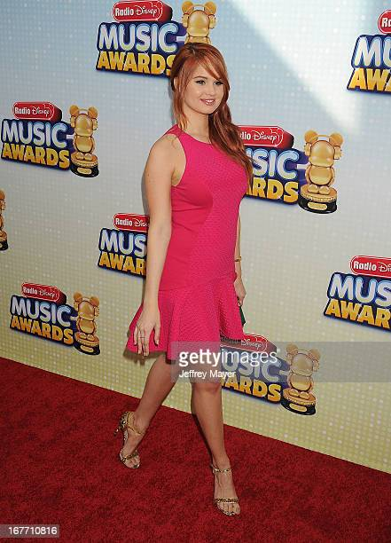 Actress Debby Ryan arrives at the 2013 Radio Disney Music Awards at Nokia Theatre LA Live on April 27 2013 in Los Angeles California
