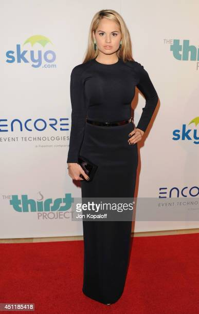 Actress Debby Ryan arrives at the 5th Annual Thirst Gala at The Beverly Hilton Hotel on June 24 2014 in Beverly Hills California