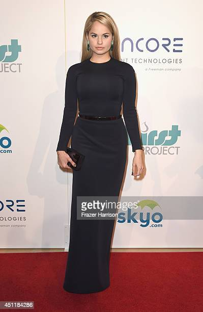 Actress Debby Ryan arrives at the 5th Annual Thirst Gala Hosted By Jennifer Garner In Partnership With Skyo And Relativity's 'Earth To Echo' at The...
