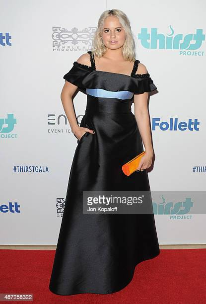 Actress Debby Ryan arrives at the 6th Annual Thirst Gala at The Beverly Hilton Hotel on June 30 2015 in Beverly Hills California