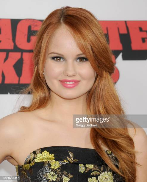 "Actress Debby Ryan arrives at the Los Angeles premiere of ""Machete Kills"" at Regal Cinemas L.A. Live on October 2, 2013 in Los Angeles, California."