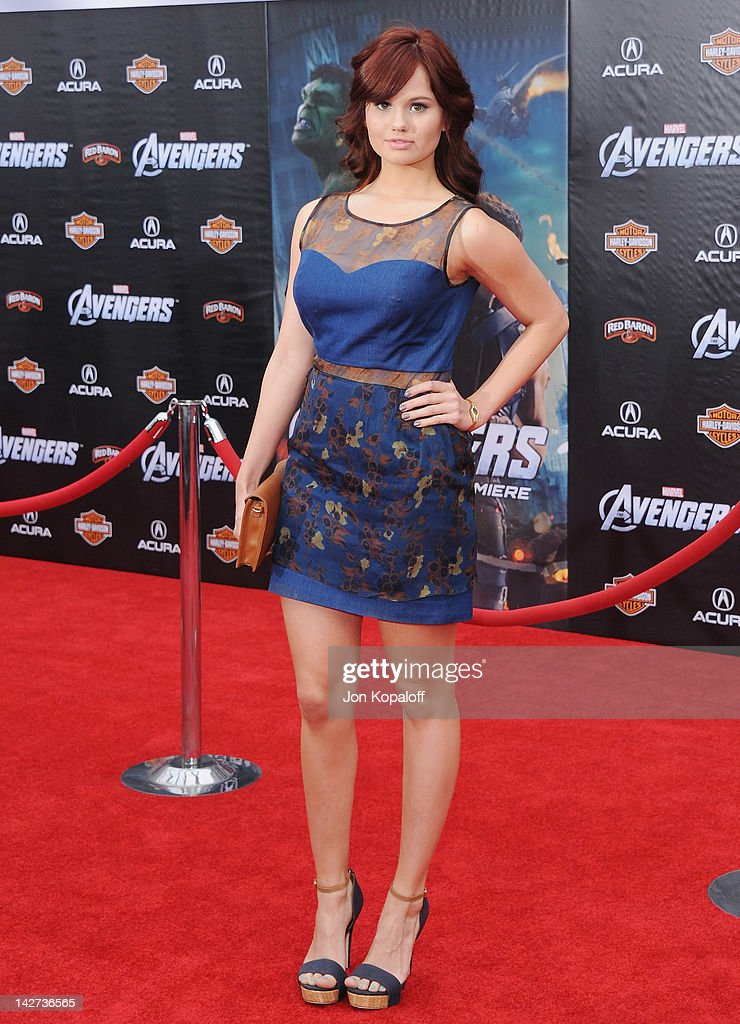 Actress Debby Ryan arrives at the Los Angeles Premiere of 'The Avengers' at the El Capitan Theatre on April 11, 2012 in Hollywood, California.