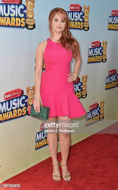 Actress Debby Ryan arrives to the 2013 Radio Disney Music Awards at Nokia Theatre LA Live on April 27 2013 in Los Angeles California