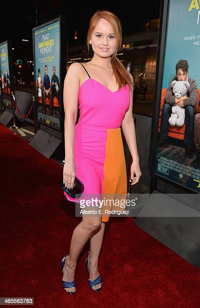 Actress Debby Ryan arrives to the premiere of Focus Features' 'That Awkward Moment' at Regal Cinemas LA Live on January 27 2014 in Los Angeles...