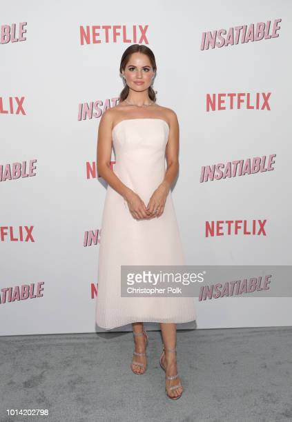 Actress Debby Ryan attends Netflix's Insatiable season 1 premiere at ArcLight Hollywood on August 9 2018 in Hollywood California