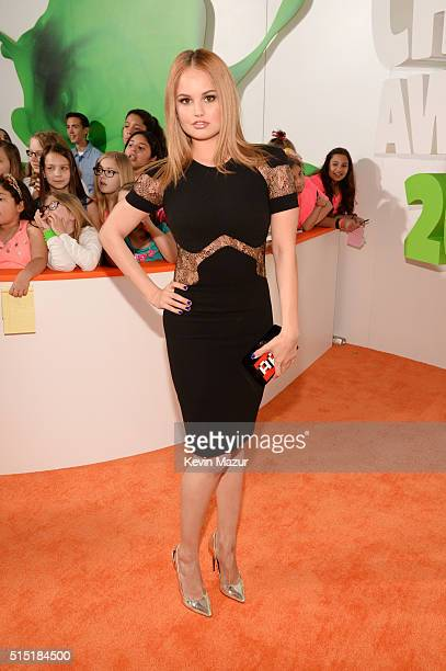 Actress Debby Ryan attends Nickelodeon's 2016 Kids' Choice Awards at The Forum on March 12 2016 in Inglewood California