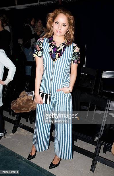 Actress Debby Ryan attends Rachel Antonoff Presentation during the Fall 2016 New York Fashion Week at Grace Building on February 11 2016 in New York...