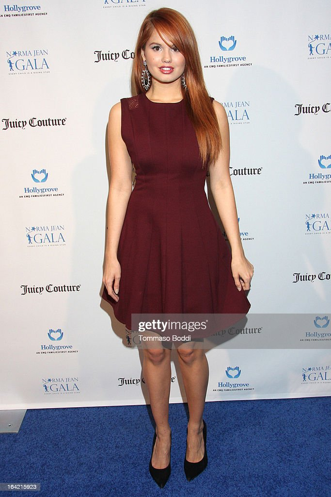 Actress Debby Ryan attends the 1st Annual Norma Jean Gala held at the TCL Chinese Theatre on March 20, 2013 in Hollywood, California.