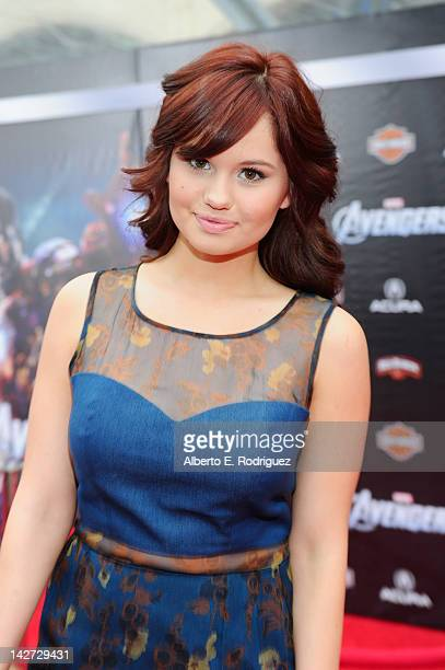 Actress Debby Ryan attends the premiere of Marvel Studios' 'Marvel's The Avengers' held at the El Capitan Theatre on April 11 2012 in Hollywood...