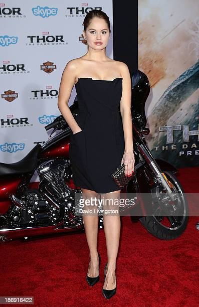 Actress Debby Ryan attends the premiere of Marvel's Thor The Dark World at the El Capitan Theatre on November 4 2013 in Hollywood California