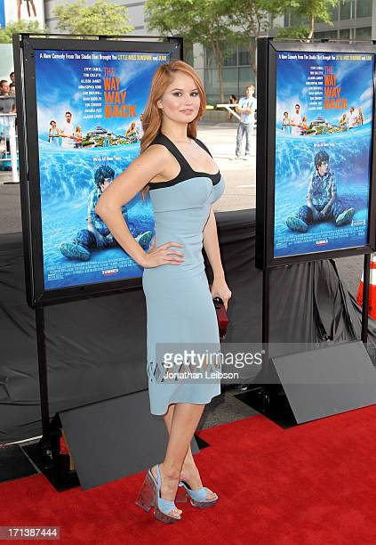 Actress Debby Ryan attends The Way Way Back premiere sponsored by DIRECTV during the 2013 Los Angeles Film Festival at Regal Cinemas LA Live on June...