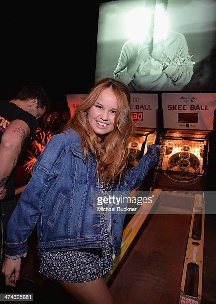 "Actress Debby Ryan celebrates the Abercrombie Fitch ""The Making of a Star"" Spring Campaign Party in Hollywood CA on February 22 2014"