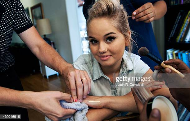 Actress Debby Ryan is photographed for Teen Vogue Magazine on August 10 2014 in Los Angeles California