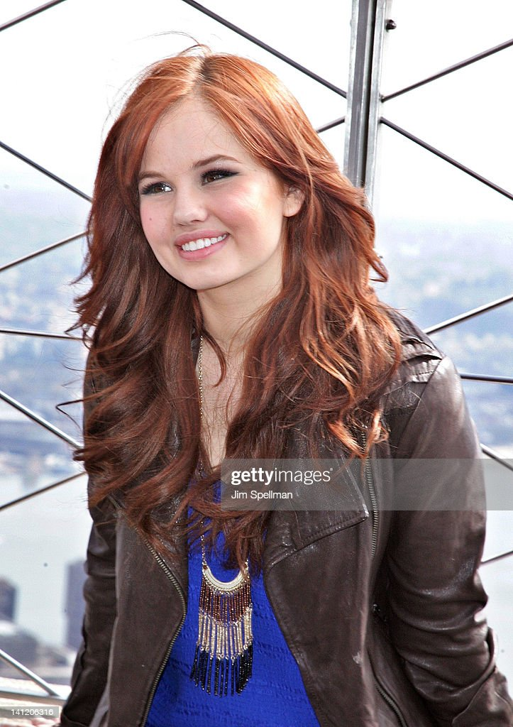 The disney channel and disney xd stars visit the empire state actress debby ryan visits the empire state building on march 12 2012 in new york voltagebd Gallery