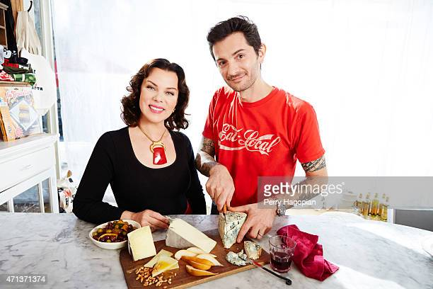 Actress Debi Mazar and chef Gabriele Corcos are photographed for Cheese Connoisseur on October 27, 2014 in New York City.