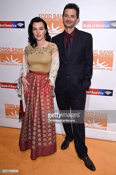 Actress Debi Mazar and Chef Gabriele Corcos attends the Food Bank Of New York City's Can Do Awards 2016 hosted by Mario Batali at Cipriani Wall...