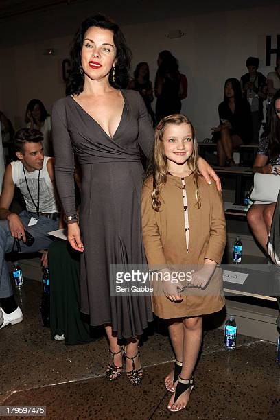 Actress Debi Mazar and daughter Giulia Corcos attend the Costello Tagliapietra fashion show during MADE Fashion Week Spring 2014 at Milk Studios on...