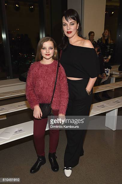 Actress Debi Mazar and daughter Giulia Isabel attend the Zac Posen Fall 2016 fashion show during New York Fashion Week at Spring Studios on February...