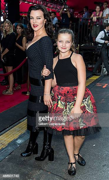 Actress Debi Mazar and daughter Giulia Isabel Corcos are seen at Marc Jacobs during Spring 2016 New York Fashion Week on September 17 2015 in New...