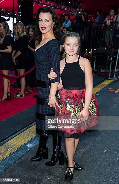 Actress Debi Mazar and daughter Giulia Isabel Corcos are seen arriving at Marc Jacobs during Spring 2016 New York Fashion Week on September 17 2015...