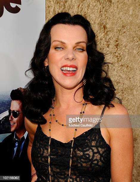 """Actress Debi Mazar arrives at HBO's """"Entourage"""" Season 7 premiere held at Paramount Theater on the Paramount Studios lot on June 16, 2010 in..."""