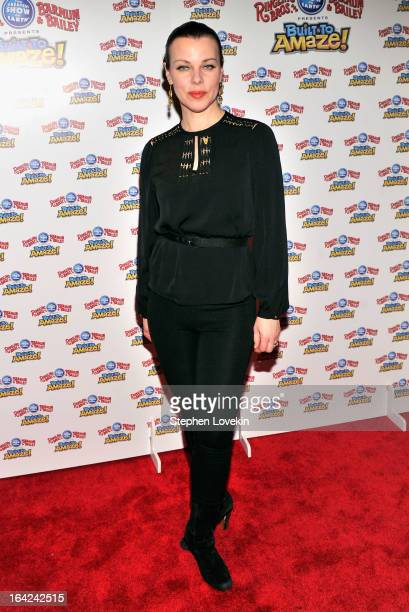 Actress Debi Mazar attends Ringling Bros And Barnum Bailey Present Built To Amaze on March 21 2013 in New York City