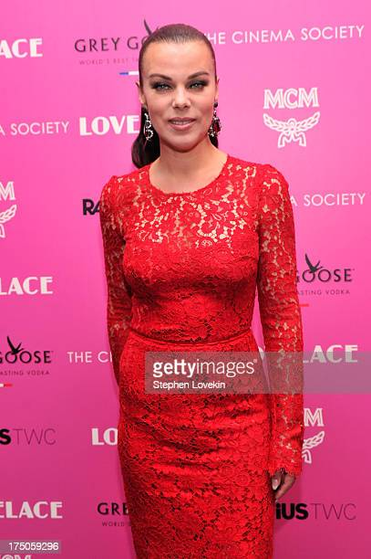 Actress Debi Mazar attends The Cinema Society and MCM with Grey Goose screening of Radius TWC's 'Lovelace' at MoMA on July 30 2013 in New York City