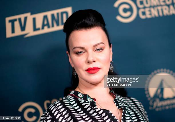 US actress Debi Mazar attends the first Comedy Central Paramount Network and TV Land Press Day on May 30 2019 in Los Angeles California