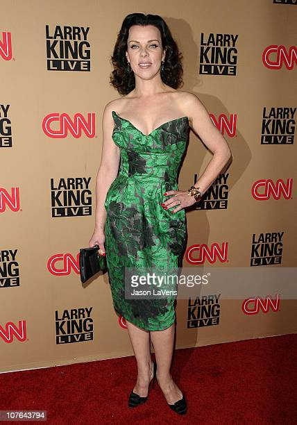Actress Debi Mazar attends the party for the final broadcast of Larry King Live at Spago on December 16 2010 in Beverly Hills California