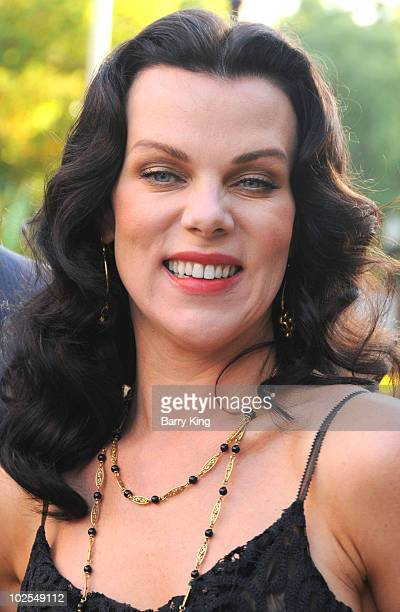 Actress Debi Mazar attends the season 7 premiere of HBO's Entourage at Paramount Studios on June 16 2010 in Los Angeles California