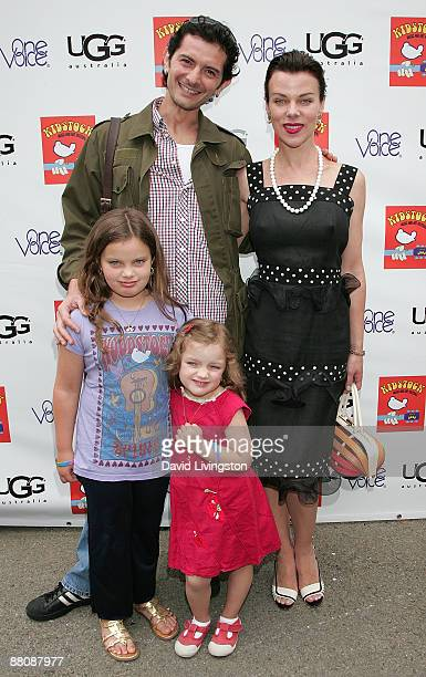 Actress Debi Mazar husband musician Gabriele Corcos and their daughters Evelyn Maria MazarCorcos and Giulia Isabel MazarCorcos attend the 3rd annual...