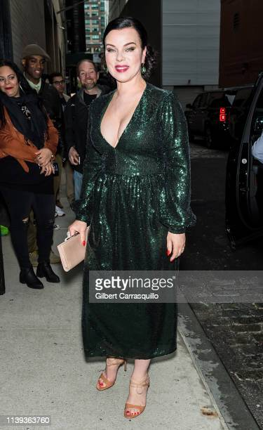 """Actress Debi Mazar is seen arriving to the Tribeca TV screening of """"Younger"""" during the 2019 Tribeca Film Festival at Spring Studios on April 25,..."""