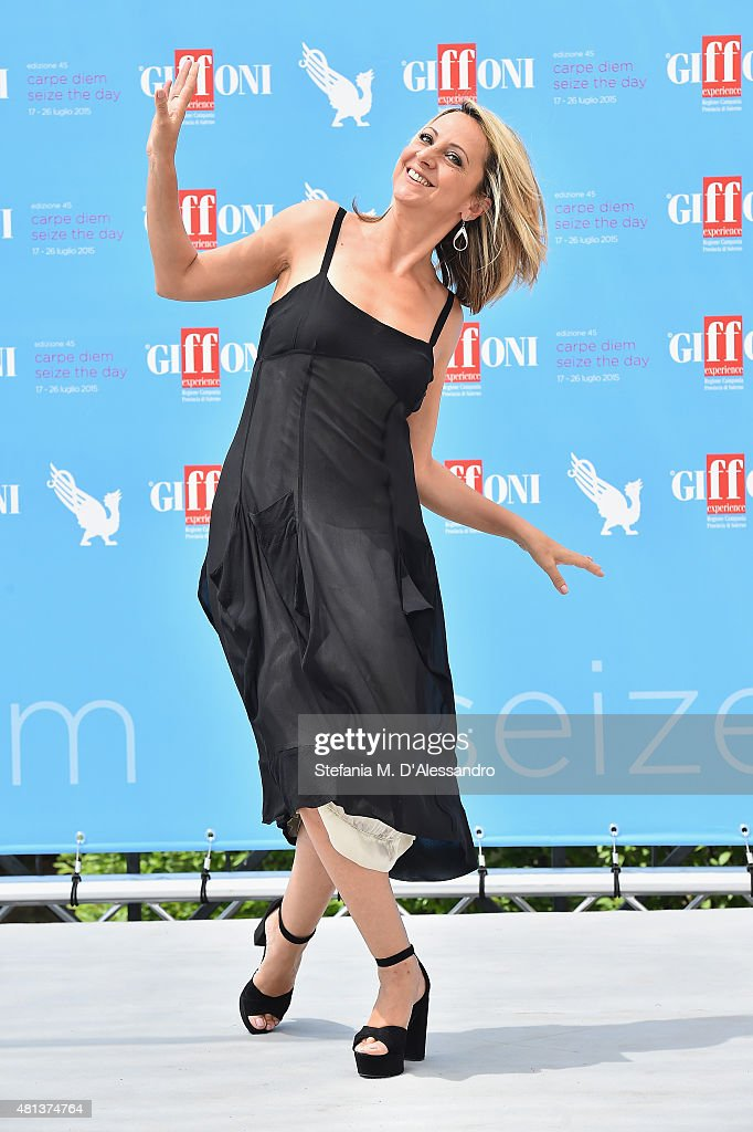Actress Debora Villa attends Giffoni Film Festival 2015 photocall on July 20, 2015 in Giffoni Valle Piana, Italy.