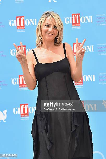 Actress Debora Villa attends Giffoni Film Festival 2015 photocall on July 20 2015 in Giffoni Valle Piana Italy