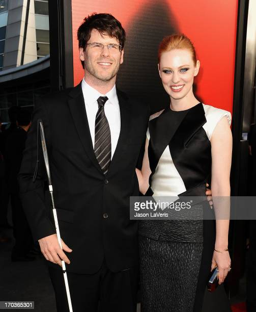 Actress Deborah Ann Woll and Edward 'EJ' Scott attend the season 6 premiere of HBO's 'True Blood' at ArcLight Cinemas Cinerama Dome on June 11 2013...