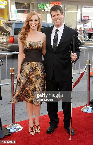 "Actress Deborah Ann Woll and E.J. Scott arrive at HBO's ""True Blood"" final season premiere at TCL Chinese Theatre on June 17, 2014 in Hollywood,..."